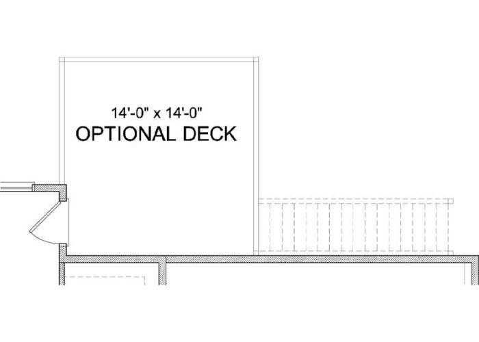 St. Croix Plan Main Level Deck Option 1 A