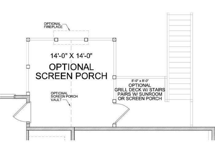 St. Croix Plan Main Level Deck Option 1 B