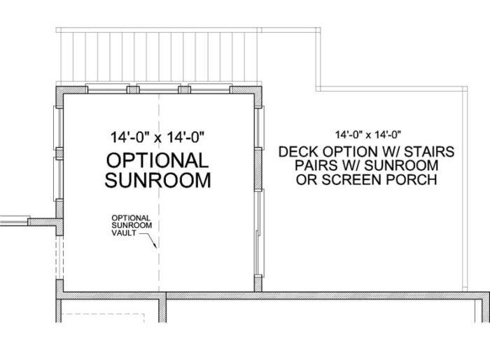 St. Croix Plan Main Level Deck Option 1 C