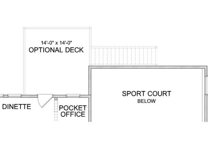 Superior Plan Main Level Deck Option 1 A