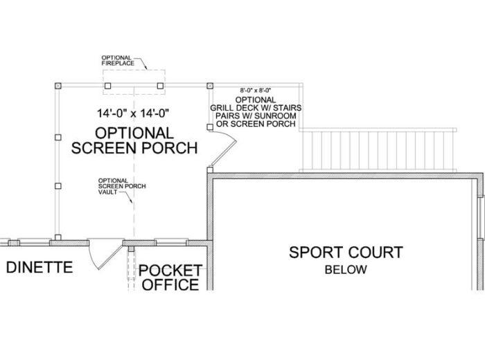 Superior Plan Main Level Deck Option 1 B