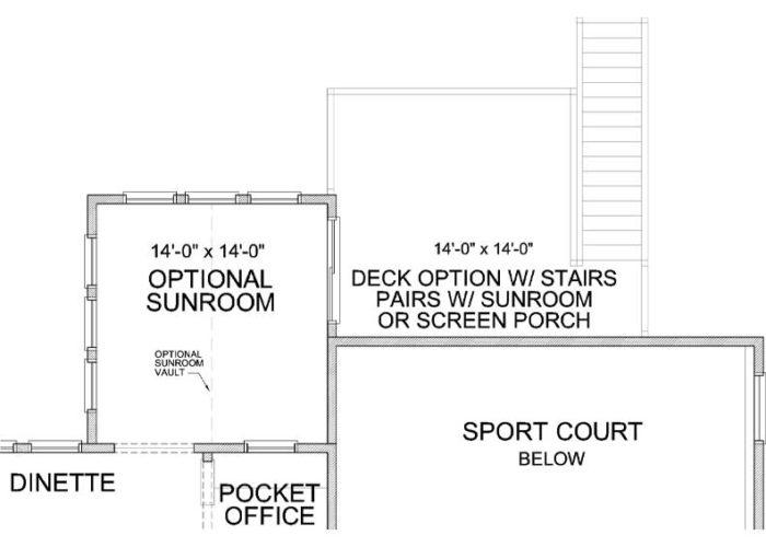 Superior Plan Main Level Deck Option 1 C