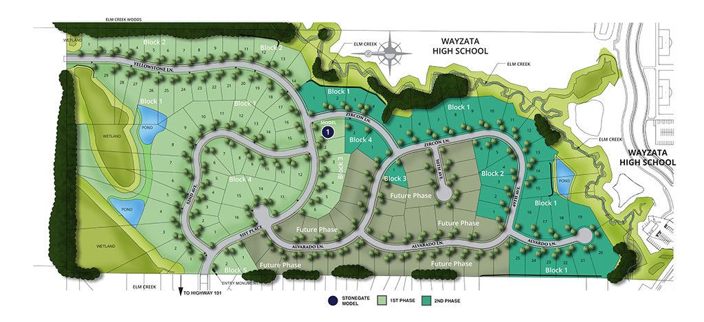 Site map of Creekside Hills neighborhood