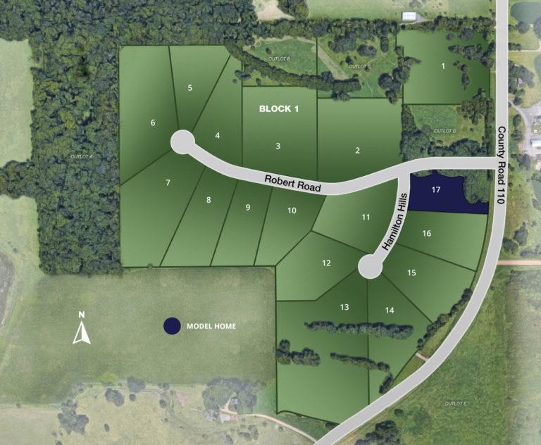 Site map of Hamilton Century Farm neighborhood