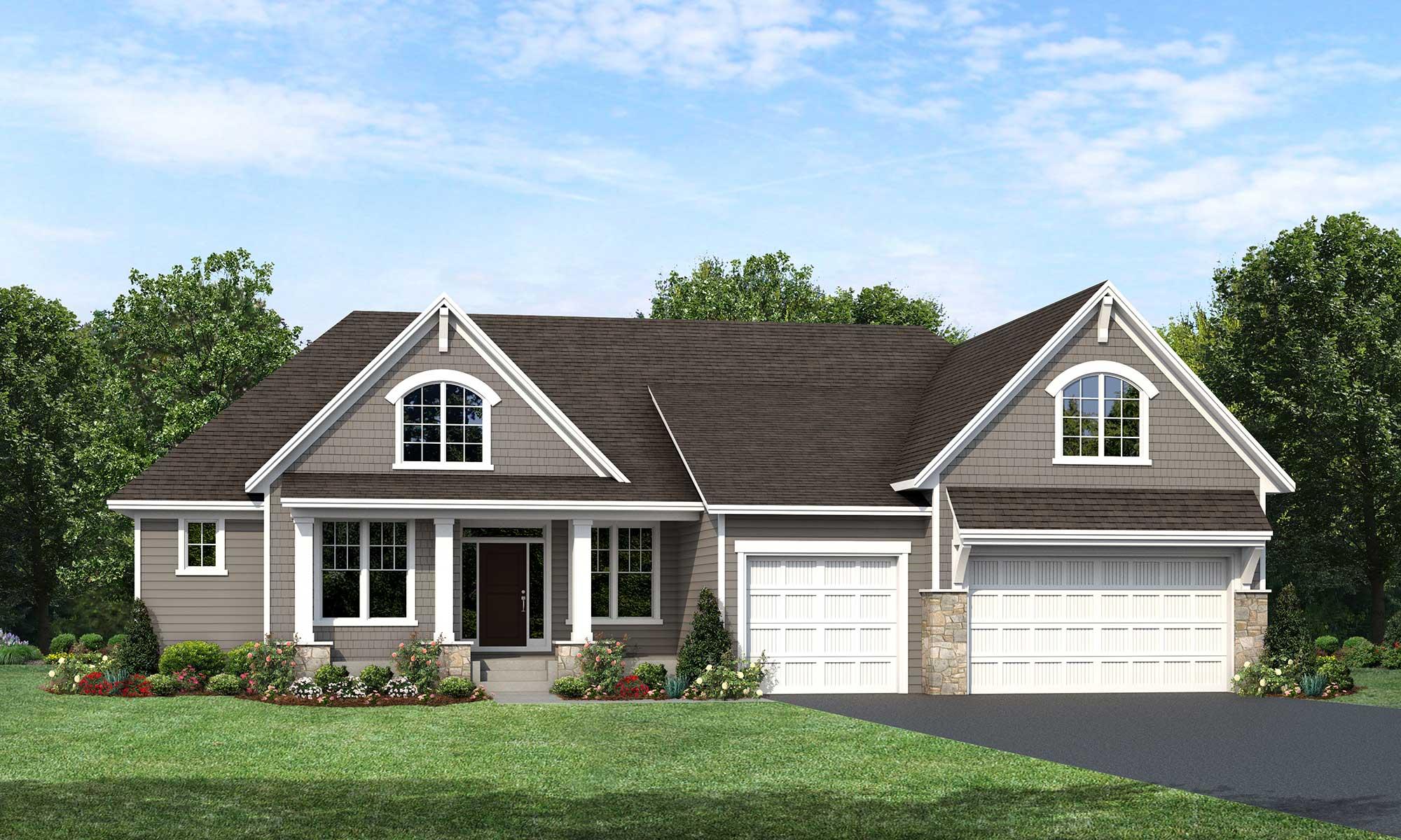 Mississippi home plan Elevation A rendering