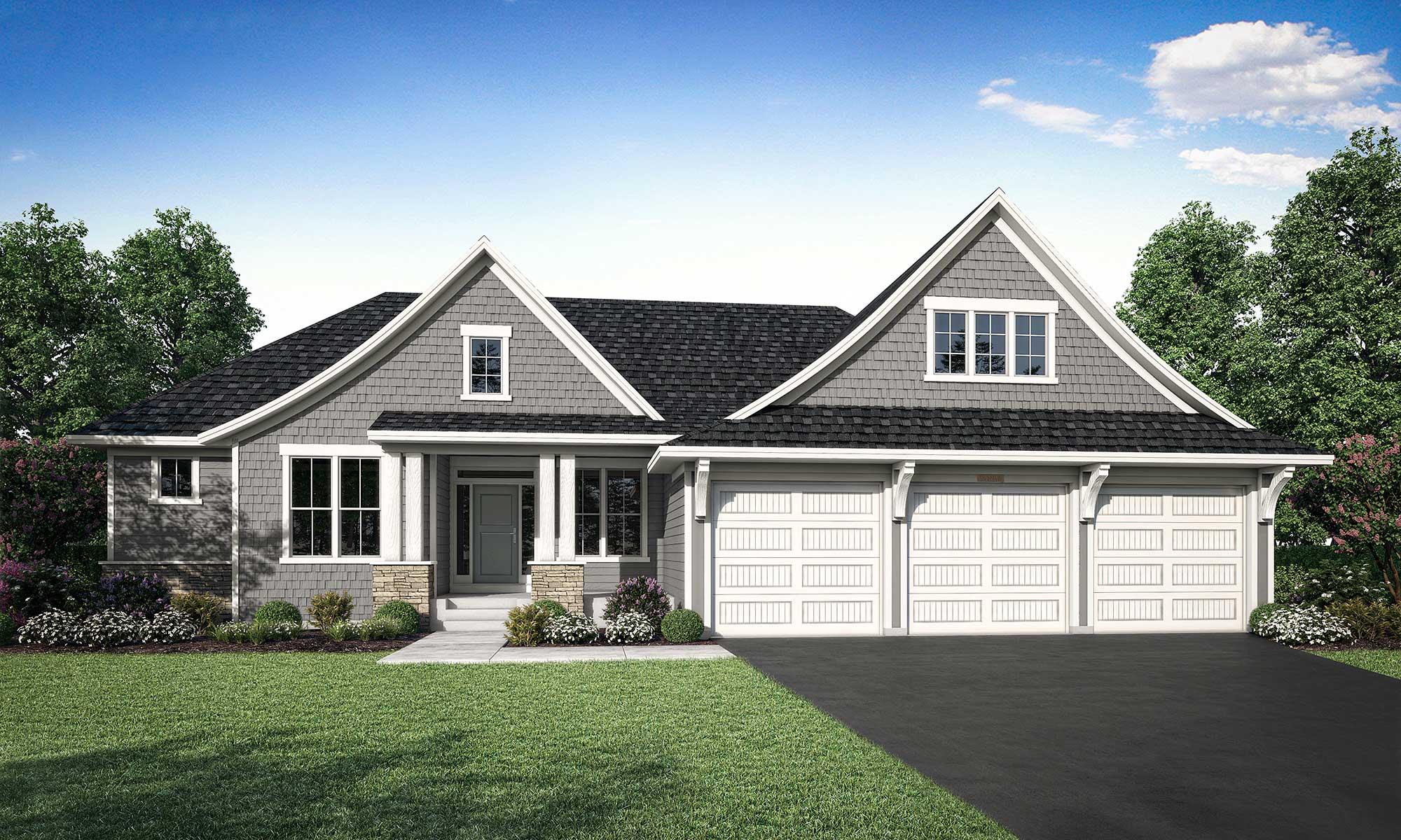 Mississippi home plan Elevation B rendering