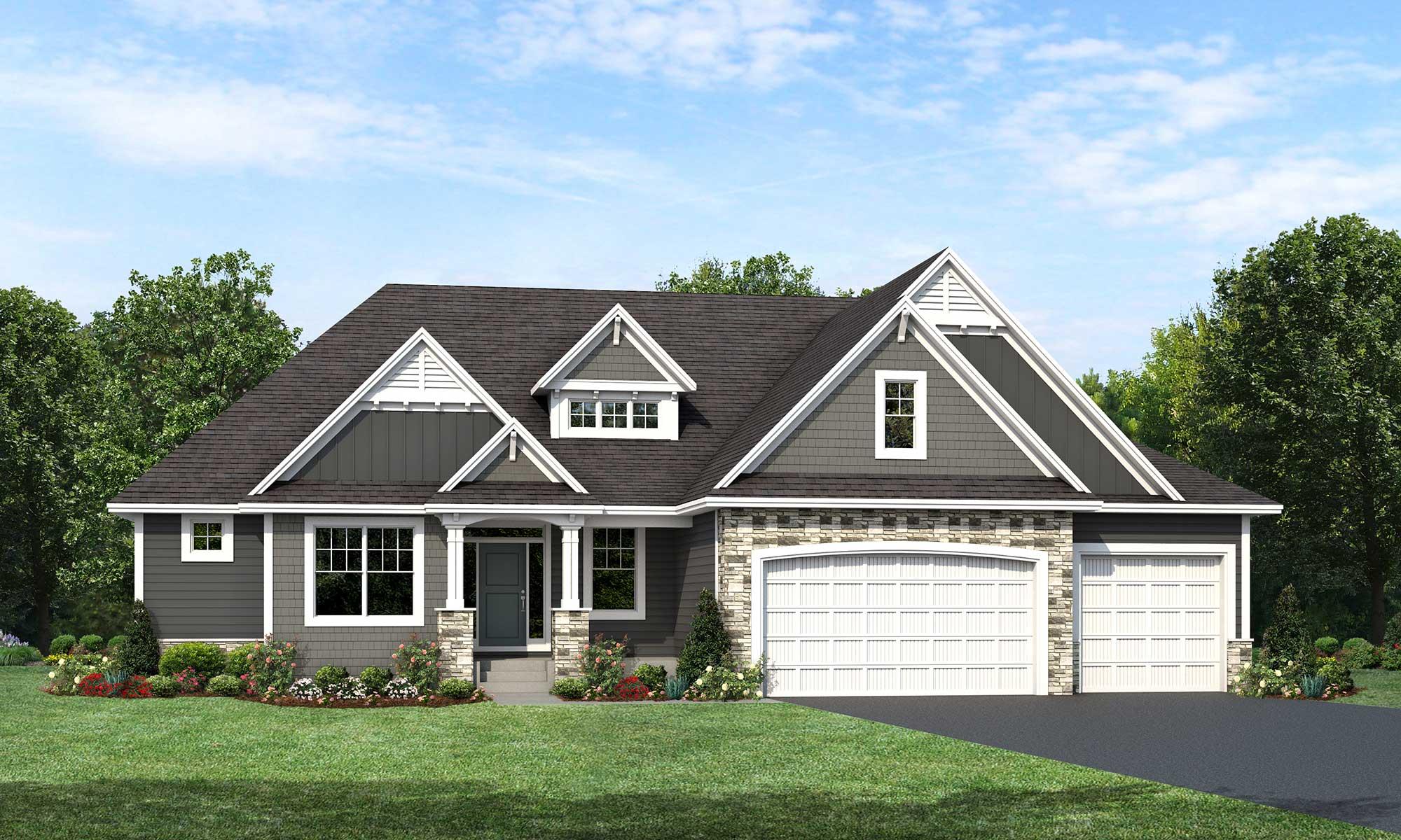 Mississippi home plan Elevation C rendering