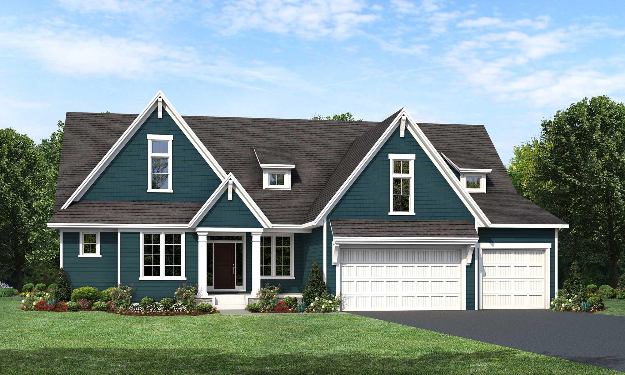 Mississippi home plan Elevation D rendering