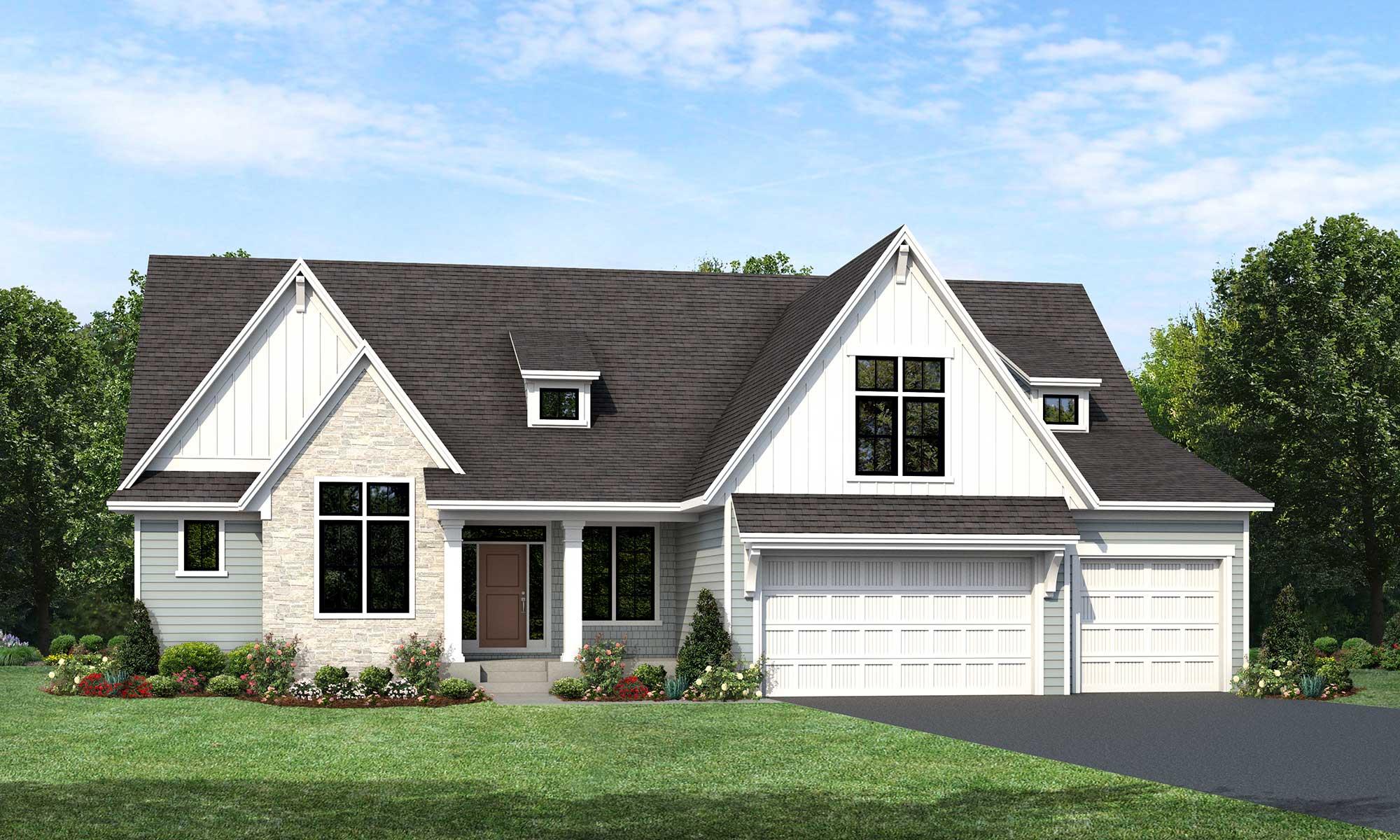 Mississippi home plan Elevation E rendering