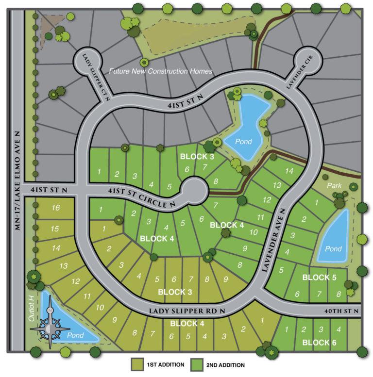 Site map of Village Preserve neighborhood