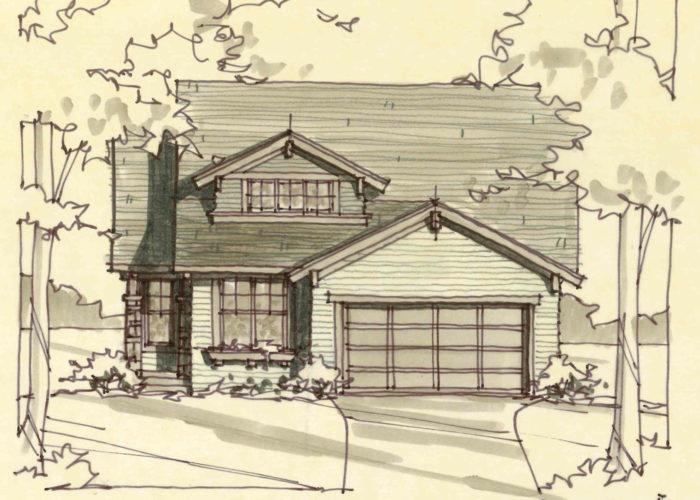 Lotus Elevation B Sketch